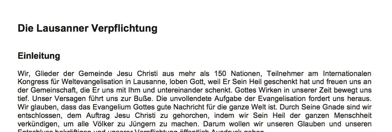 Lausanner Verpflichtung